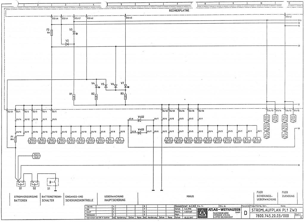 schemat elektryczny Atlas 1404