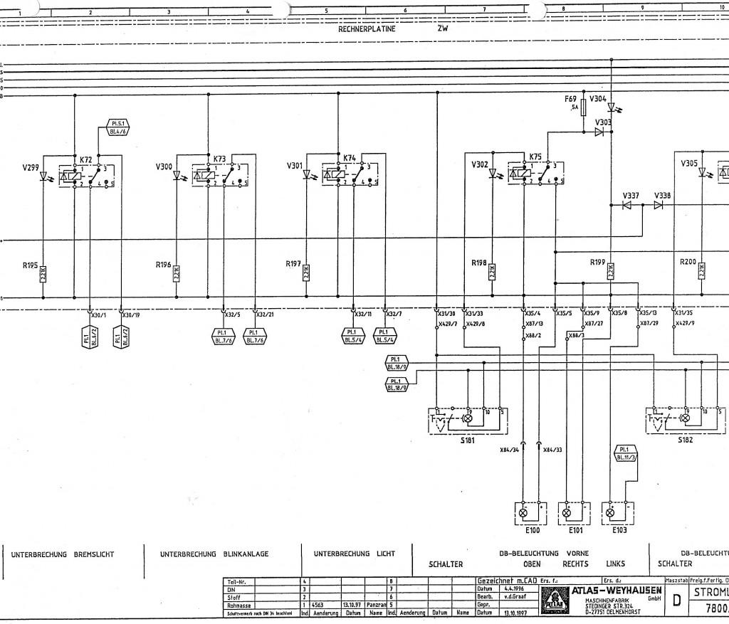 schemat elektryczny Atlas 1604 zw