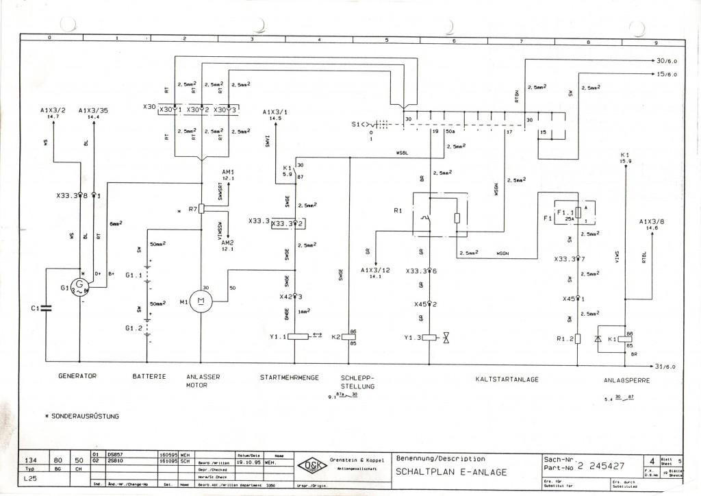 schemat elektryczny ładowarki  O&K L25