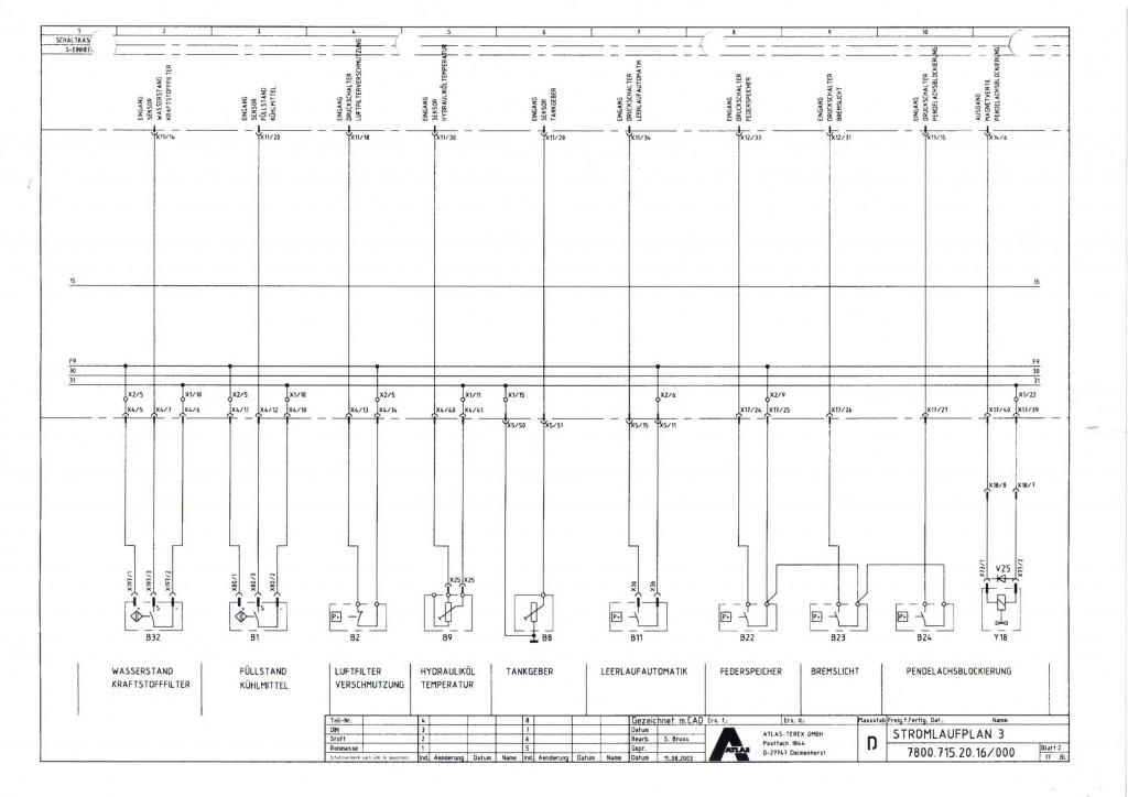 schemat elektryczny Atlas 1305 1405 1505 1605