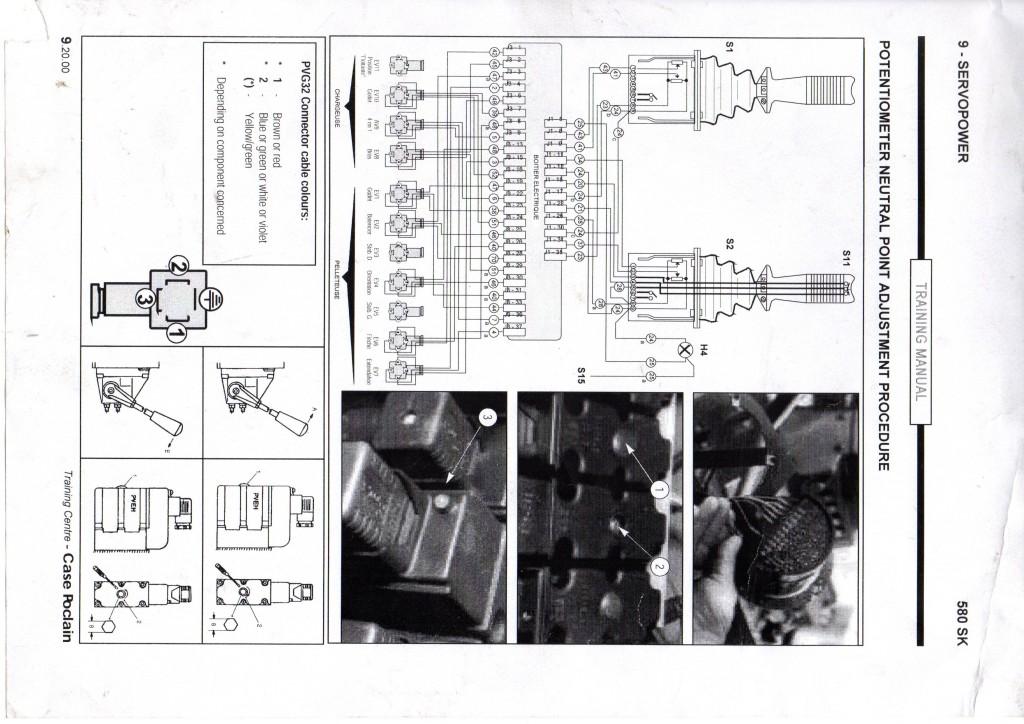 schemat elektryczny  Case 580 sk  695