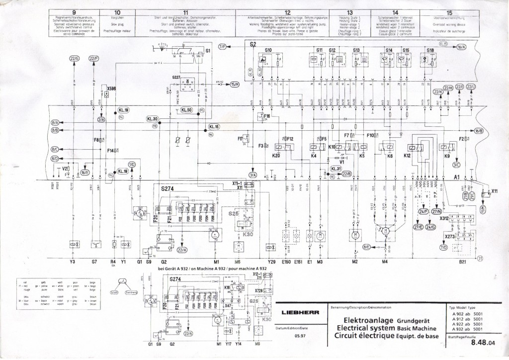 schemat elektryczny Liebherr  900-924