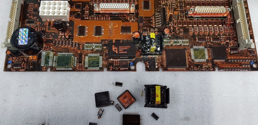 failure on the O&K ECU board rechnerplatine