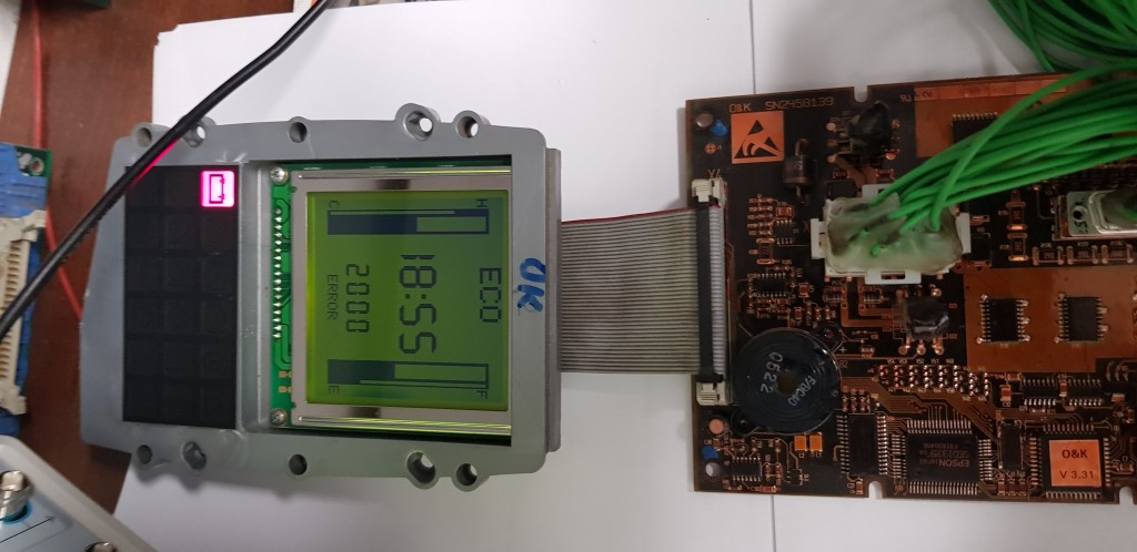 DISPLAY failure on the O&K ECU board rechnerplatine